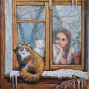 Картины и панно ручной работы. Ярмарка Мастеров - ручная работа Скоро весна. Handmade.