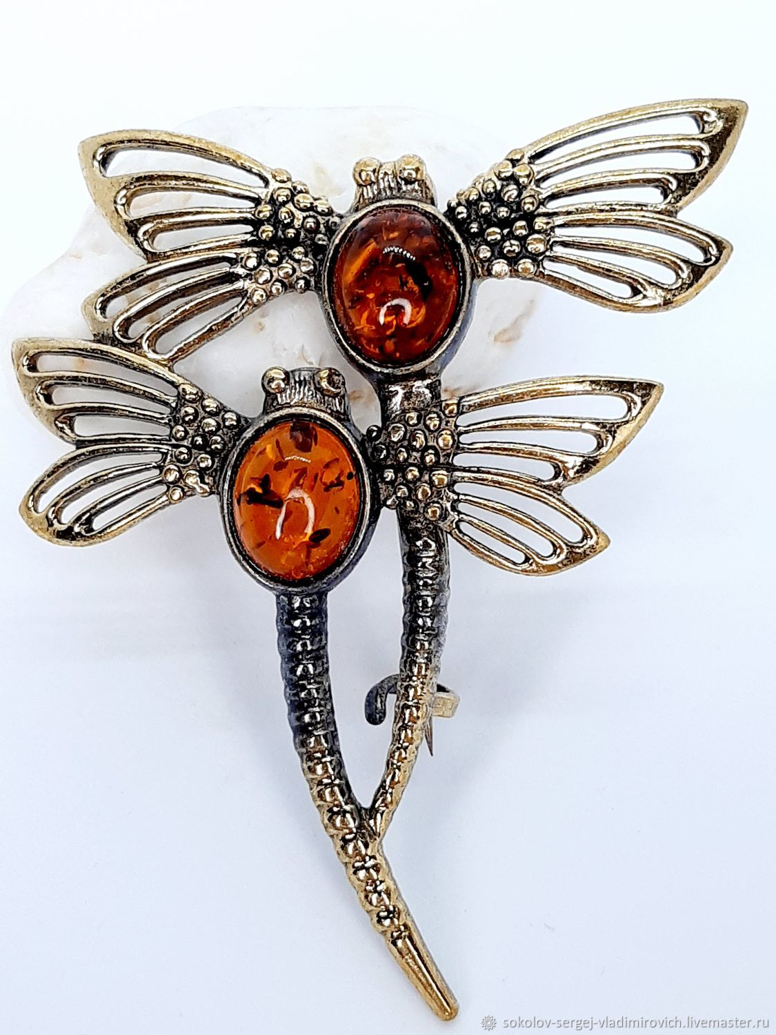 Steam Dragonfly brooch, Brooches, Moscow,  Фото №1