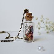 Украшения handmade. Livemaster - original item Transparent Jar Pendant Alice in Wonderland White Rabbit. Handmade.
