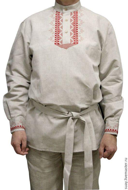 Этническая одежда ручной работы. Ярмарка Мастеров - ручная работа. Купить Этническая рубашка. Handmade. Коричневый, народная одежда