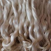 Doll hair handmade. Livemaster - original item Hair for dolls (white, natural, washed) Locks Curls dolls. Handmade.