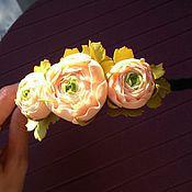 Украшения ручной работы. Ярмарка Мастеров - ручная работа Ободок с лютиками. Handmade.