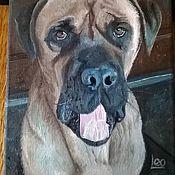 Картины и панно ручной работы. Ярмарка Мастеров - ручная работа Портрет собаки. Handmade.