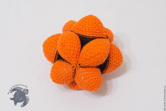"""Развивающие игрушки ручной работы. Ярмарка Мастеров - ручная работа. Купить Amamani Star Ball - Звездный мяч Амамани """"Шоколад и Апельсин"""". Handmade."""