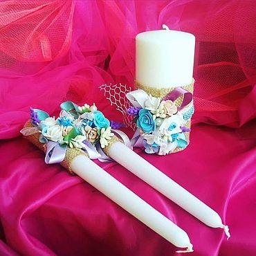 Свадебный салон ручной работы. Ярмарка Мастеров - ручная работа Свечи: Райские цветы. Handmade.
