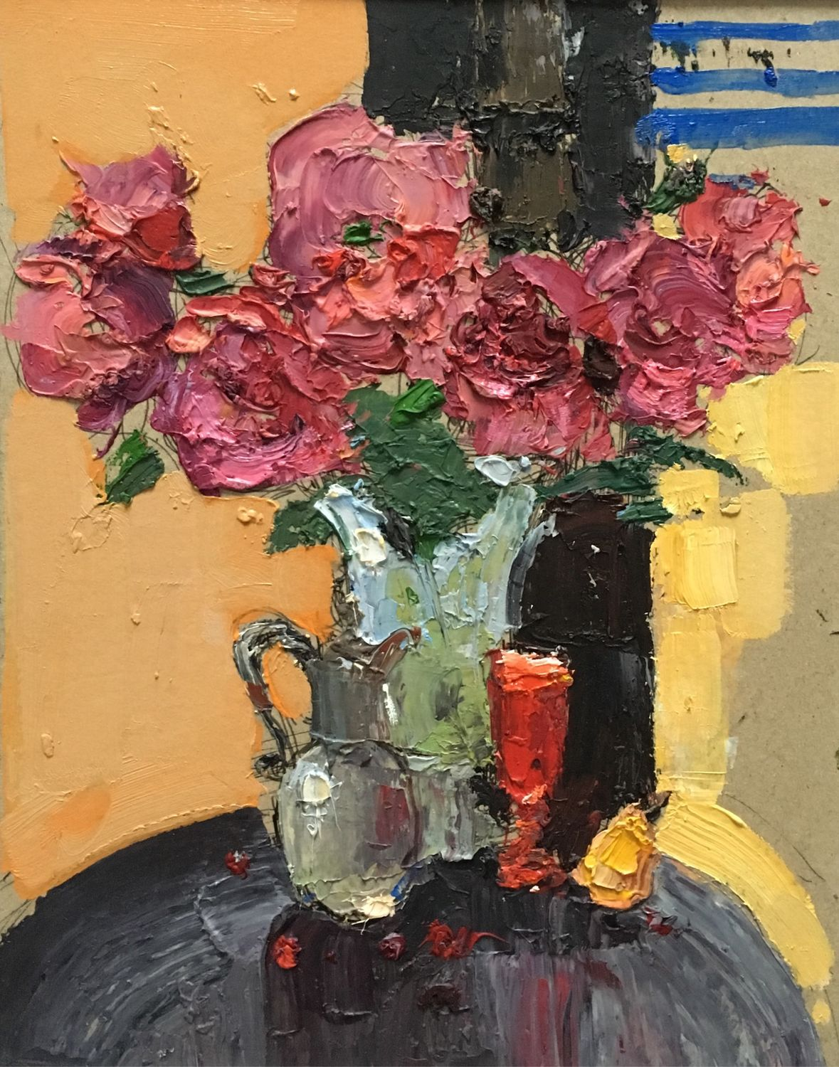 'Still life with a bouquet of peonies and a pear', Pictures, Moscow,  Фото №1