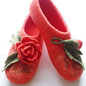 Обувь ручной работы handmade. Livemaster - original item Felted women`s Slippers. Handmade.