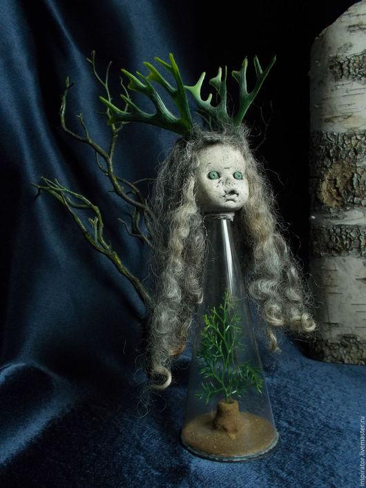 Коллекционные куклы ручной работы. Ярмарка Мастеров - ручная работа. Купить Инспирация 004 - Хранитель. Handmade. Серый, тайна, пластик