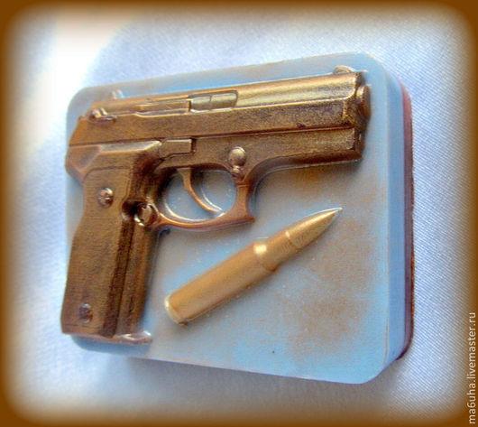 Мыло ручной работы. Ярмарка Мастеров - ручная работа. Купить Мыло Пистолет с пулей. Handmade. Мыло, мыло сувенирное