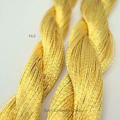 №3 Японские нитки, желтое золото
