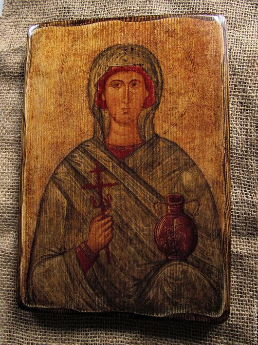 Купить икону на дереве `Святая Анастасия Узорошительница` ручной работы
