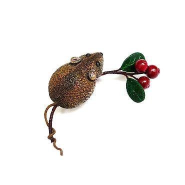 """Украшения ручной работы. Ярмарка Мастеров - ручная работа Брошь """"Мышка"""". Handmade."""