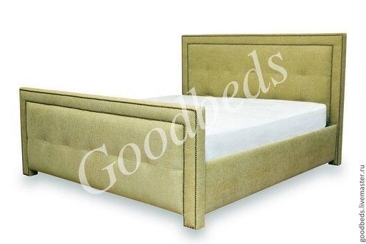 Мебель ручной работы. Ярмарка Мастеров - ручная работа. Купить Кровать Селена. Handmade. Зеленый, мягкое изголовье, синтипон