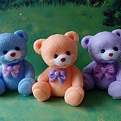 Косметика ручной работы handmade. Livemaster - original item Soap Bear with bow. Handmade.