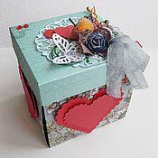 Открытки ручной работы. Ярмарка Мастеров - ручная работа Распродажа.Коробочка для подарка. Handmade.
