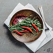 Посуда handmade. Livemaster - original item Wooden Plate 20.5 cm 100%#59. Handmade.