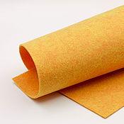 Материалы для творчества ручной работы. Ярмарка Мастеров - ручная работа Корейский мягкий фетр 1,5 мм, ST-42(оранжевый меланж). Handmade.