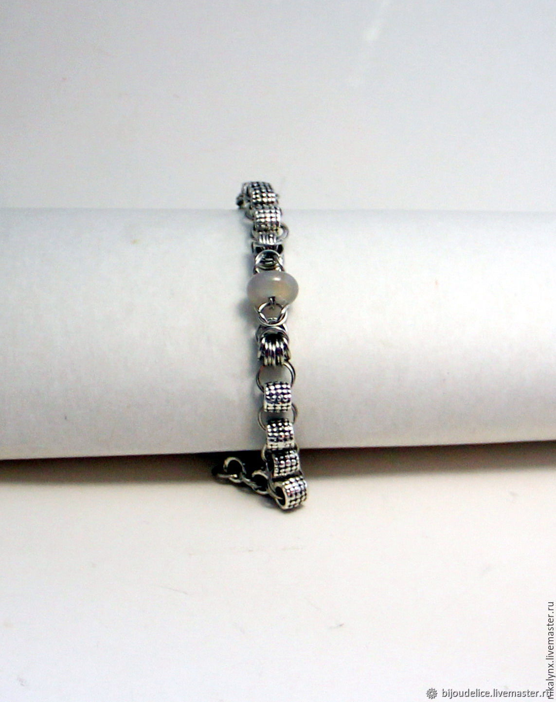 "Metal bracelet with carnelian ""Lastours"", Bead bracelet, St. Petersburg,  Фото №1"