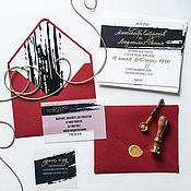 """Свадебный салон ручной работы. Ярмарка Мастеров - ручная работа Приглашение на свадьбу """"Классика"""". Handmade."""