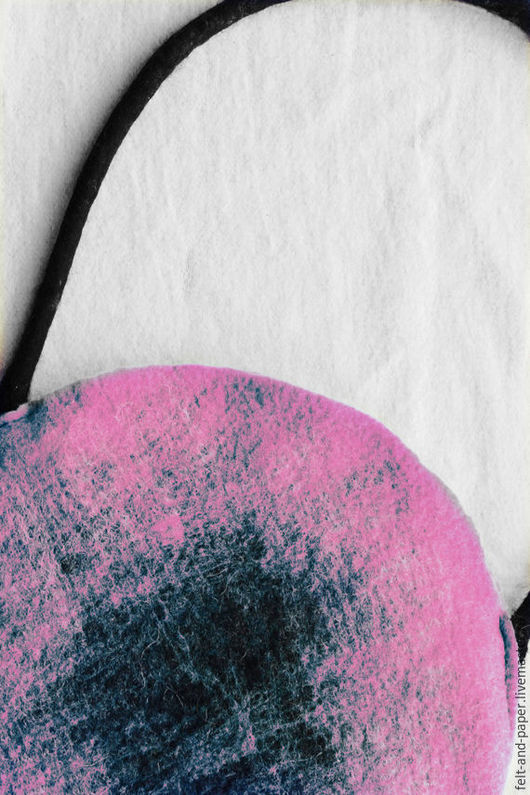 Женские сумки ручной работы. Ярмарка Мастеров - ручная работа. Купить Сумка розовая круглая из войлока. Handmade. Розовый, круг