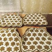 Для дома и интерьера ручной работы. Ярмарка Мастеров - ручная работа Чехлы (сидушки) на стулья. Handmade.