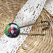 Brooches handmade. Livemaster - original item Brooch Pin Mad Hatter Alice in Wonderland. Handmade.