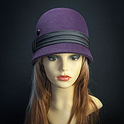 Аксессуары ручной работы. Ярмарка Мастеров - ручная работа Фетровая  шляпка клош. Handmade.