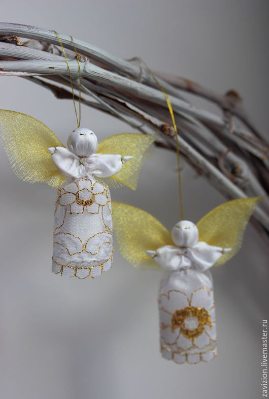 Кукла ангелочек. Ангел. Христианский сувенир. Добро. Елочная игрушка. Ручная работа