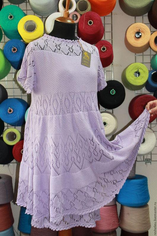 Платья ручной работы. Ярмарка Мастеров - ручная работа. Купить Платье №64 вязаное из 100% итальянского хлопка. Handmade.