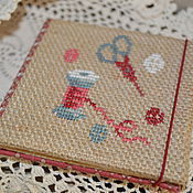 Материалы для творчества handmade. Livemaster - original item Pincushion book hand embroidery. Handmade.