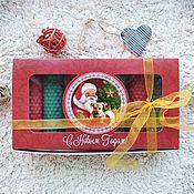 Подарки к праздникам handmade. Livemaster - original item Set of Christmas candles with Santa Claus. Handmade.