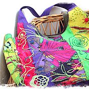 Сумки и аксессуары ручной работы. Ярмарка Мастеров - ручная работа Текстильная сумка Бабочки. Handmade.
