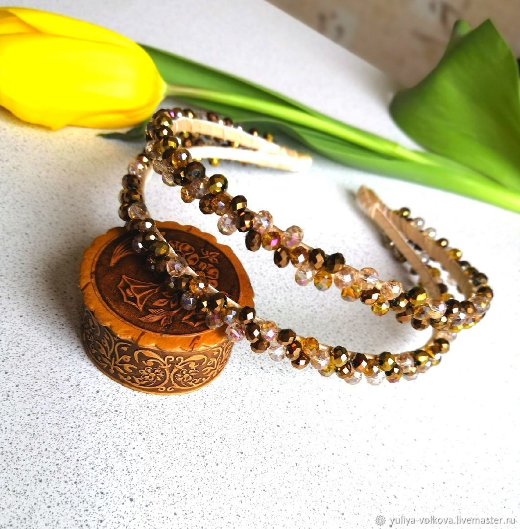 handmade. Livemaster - handmade. Buy Double bezel.Headband, headband with flowers, bezel handmade, rim with roses