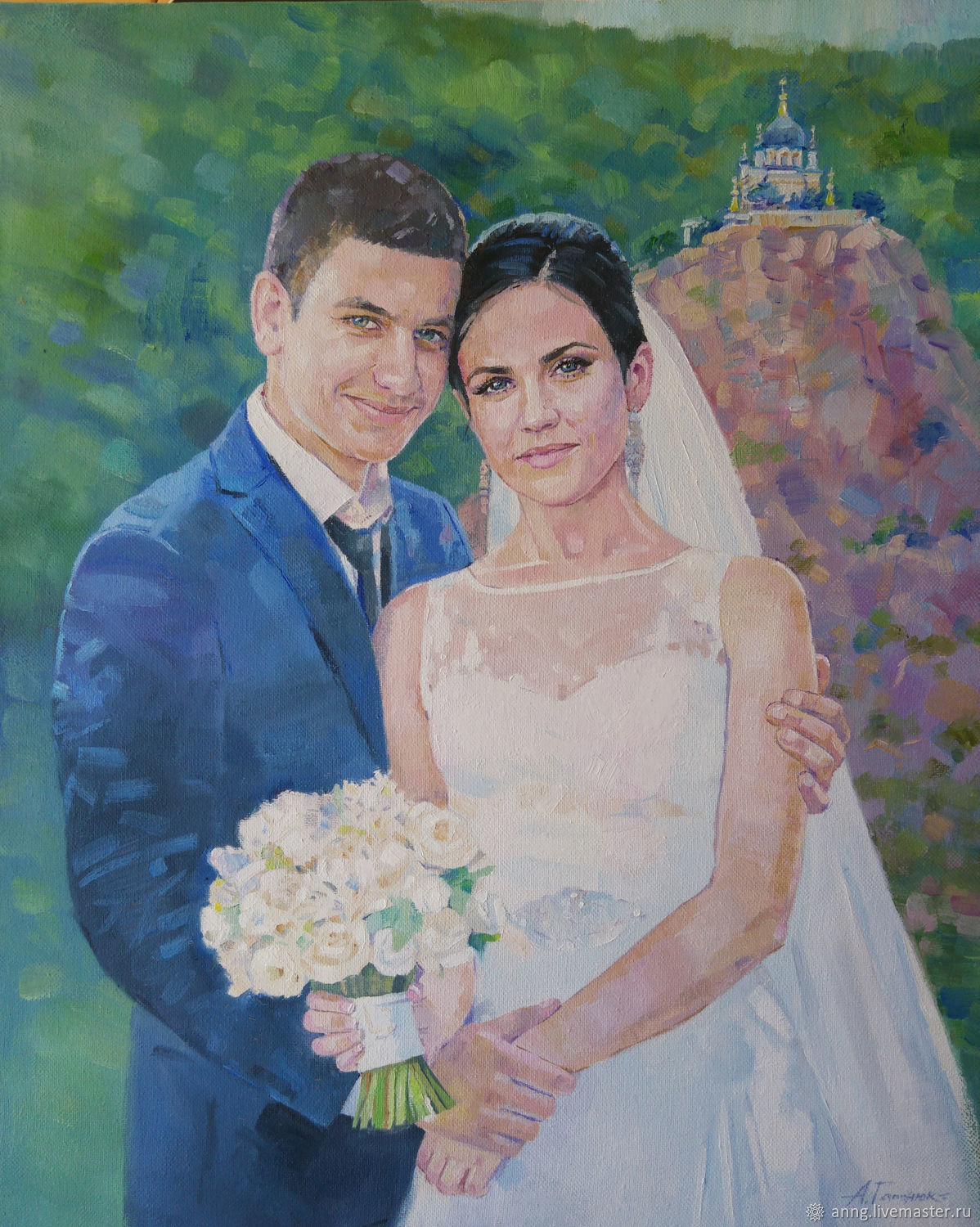 Two portrait custom oil painting on canvas, portrait by photo, on the wall, Pictures, Simferopol,  Фото №1