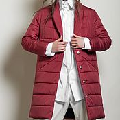 Одежда handmade. Livemaster - original item Women`s insulated coat Red Passion. Handmade.
