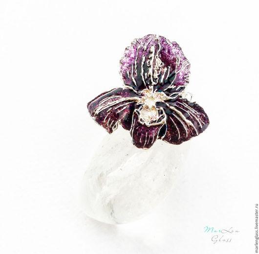 Кольца ручной работы. Ярмарка Мастеров - ручная работа. Купить Кольцо Дикая орхидея. Handmade. Тёмно-фиолетовый, разъемное кольцо