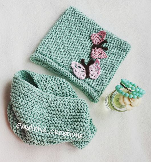 Детский комплект(шапка и снуд) Butterfly от Malinka_Creations