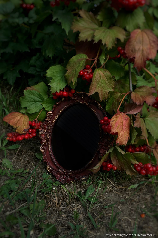 """Черное магическое зеркало """"Баст"""", Ритуальная атрибутика, Новосибирск,  Фото №1"""