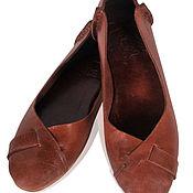 Обувь ручной работы. Ярмарка Мастеров - ручная работа NATIVE. Балетки женские кожаные для дома, офиса, прогулок. Handmade.