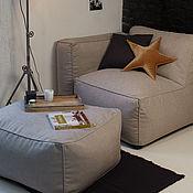 Для дома и интерьера ручной работы. Ярмарка Мастеров - ручная работа Бескаркасное кресло с подлокотником-пуфом. Handmade.