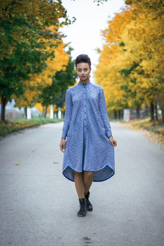 Платья ручной работы. Ярмарка Мастеров - ручная работа. Купить Шерстяной антиджинс. Handmade. Платье на каждый день, теплое платье