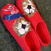 """Обувь ручной работы. Ярмарка Мастеров - ручная работа Тапочки мужские """" Футбол"""". Handmade."""