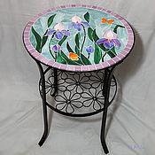 """Стол с мозаикой """"Ирисы"""""""