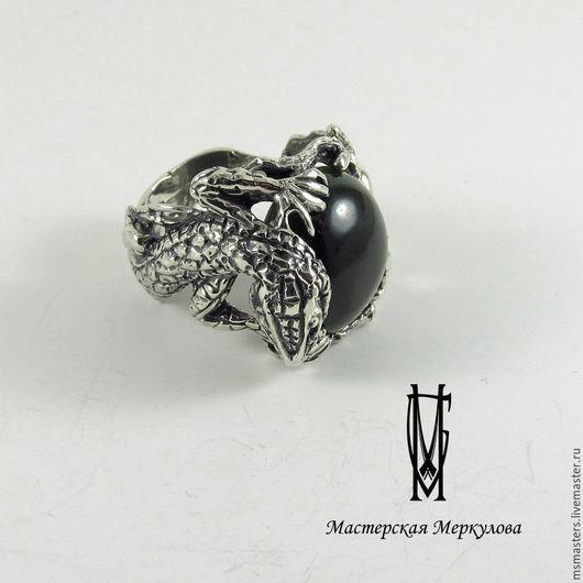 """Кольца ручной работы. Ярмарка Мастеров - ручная работа. Купить Перстень"""" Ящерица с нефритом"""". Handmade. Серебряный, кольцо с камнем"""