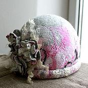"""Аксессуары ручной работы. Ярмарка Мастеров - ручная работа """"Шёлковое суфле"""" шляпка. Handmade."""