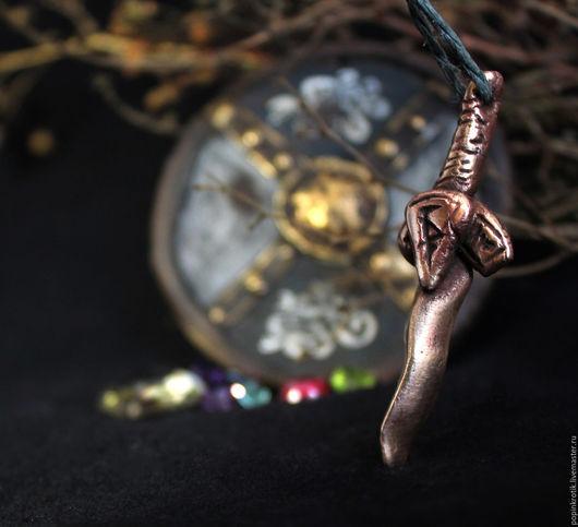 """Кулоны, подвески ручной работы. Ярмарка Мастеров - ручная работа. Купить Амулет """"Грозовой Клинок"""" (IV). Handmade. Комбинированный, кулон"""