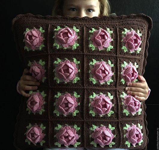 Текстиль, ковры ручной работы. Ярмарка Мастеров - ручная работа. Купить Вязаные подушки. Handmade. Комбинированный, хлопок с акрилом