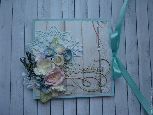 """Свадебные открытки ручной работы. Ярмарка Мастеров - ручная работа. Купить Свадебная открытка-конверт для денег  """"Крылья бабочки"""". Handmade."""