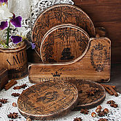 Для дома и интерьера handmade. Livemaster - original item A set of cutting boards out of elm