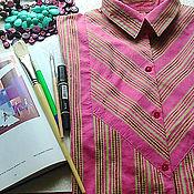 Одежда ручной работы. Ярмарка Мастеров - ручная работа Женская свободная РУБАШКА. Handmade.